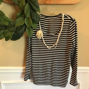 [LOFT] Striped Long Sleeve Top
